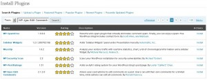 Install plugins WordPress 2.7