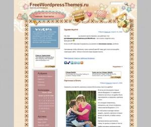 Bunny and Teddy - Очаровательный Шаблон для WordPress блога