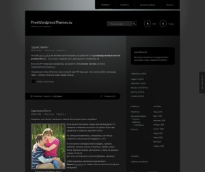 Дивная тема WordPress Piano Black от японского дизайнера
