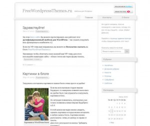 Voidy легкий шаблон для WordPress