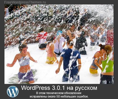 WordPress 3.0.1 на русском