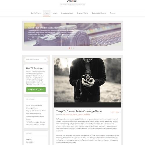 Минималистичная тема WordPress Central