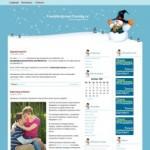 Зимняя тема WordPress Snowman